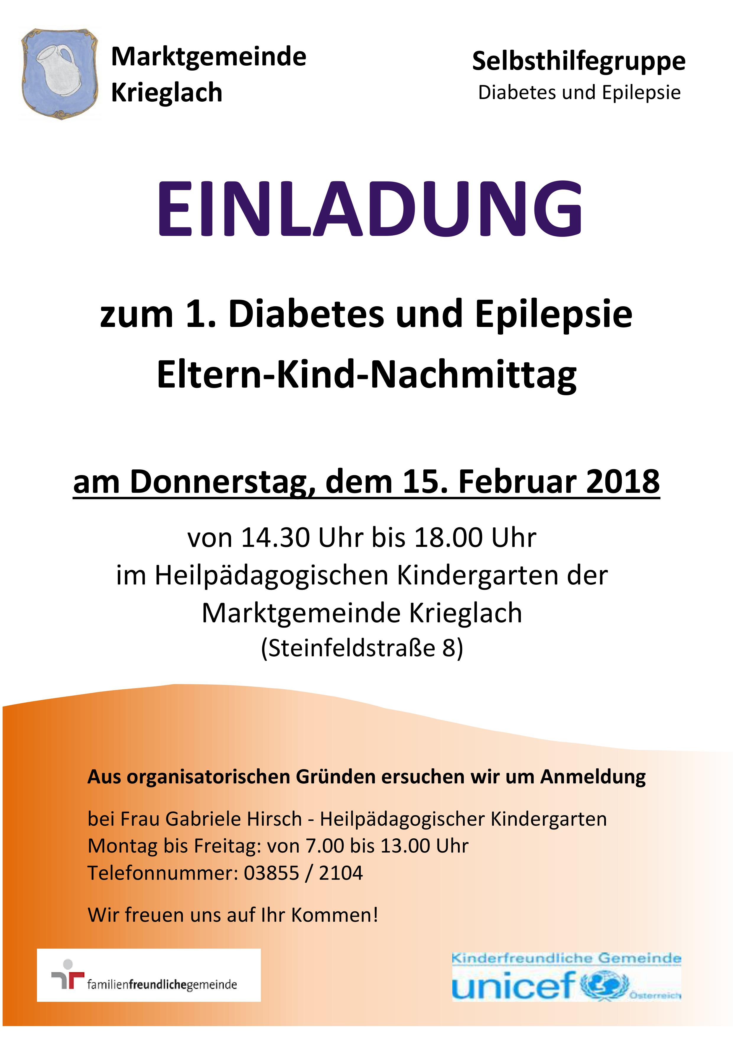 Diabetes Epilepsie Nachmittag